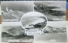 England Greetings from Woolacombe multi-view RPPC - unposted