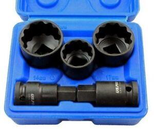 """5pc 1/2"""" Dr 12 Point Hub Impact Socket Bit Set for VAG Vehicles US PRO 2085"""