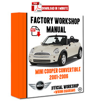 >> OFFICIAL WORKSHOP Manual Service Repair Mini Cooper S Convertible 2001 - 2006
