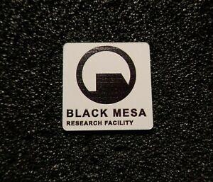 "Black Mesa Half-Life Logo Label Decal Case Aufkleber Sticker Badge 1x1"" [475c]"