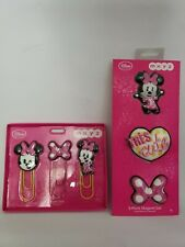 Disney  Store Minnie Mouse Pink Bow MXYZ Paperclips and Magnet Set