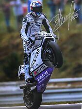 Yonny Hernández mano firmado Pull and Bear Ducati MotoGP 14X11 foto.