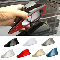 CAR EXTERIOR ROOF SHARK FIN ADHESIVE STICKER ANTENNA FM/AM SIGNAL RADIO AERIAL