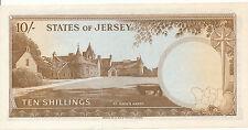 Jersey - 10 shillings 1963 aunc-pick 7a