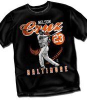 NELSON CRUZ Baltimore Orioles Vintage Black Style T-Shirt - Adult Sizes New