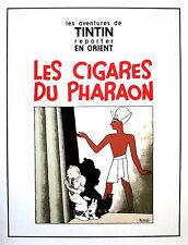 Serigraphie HERGE Tintin Les cigares du pharaon 1000 ex. 60X80 Escale NEUF