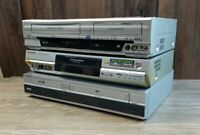 Lot of 3  DVD VHS VCR Combo Player Recorder For Parts or Repair Sony