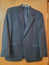 Van Heusen Blazer Mens Suit Jacket 42s Classic Fit Woven Navy Blue Two Button