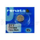 1 x Renata 379 Silver oxide battery 1.55V SR521SW SR63 V376 Watch 0% Mercury