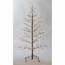 5ft 150cm Snowy Twig Tree With Warm White 200 LED Lights Home Decoration