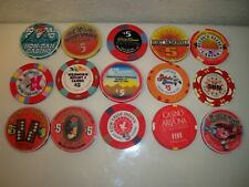 Various Lot of 15 $5.00 Casino Poker Chips
