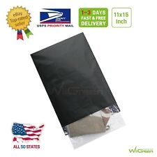 #4 11 x 15 inch 2.17 MIL Poly Mailers Shipping Envelopes Packaging Bags, Black