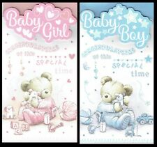 NEW BABY BOY OR GIRL CARD ~ From the PLATINUM COLLECTION  - Beautiful Designs