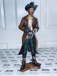 """16"""" Tall Cowboy Gunslinger Resin Sculpture Figurine """"Gun for Hire"""""""