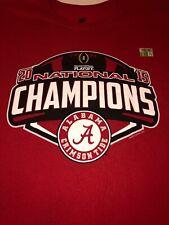Alabama Crimson Tide Football Shirt 2Xl Ncaa College National Champions 2015 Red