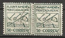 4131-SELLOS GUERRA CIVIL REPUBLICA LOCALES TRINCHERAS MONTCADA Y REIXAC 1937