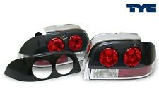 1994-1995 Ford Mustang Tail Lights Paint Ready Black or Carbon Fiber Look by TYC