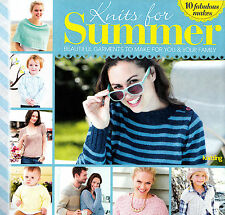 KNITTING PATTERN BOOKLET SUMMER 10 DESIGNS LADY CHILD MEN SWEATERS CAPE SKM AUB