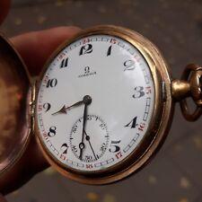 Pocket Watch Steel Vintage Swiss - Omega Just look - Antique Open Face Enamel