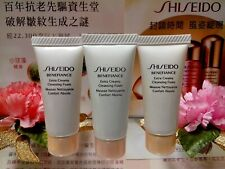 "☾3 PCS☽Shiseido Benefiance Extra Creamy Cleansing Foam◆☾7ml☽◆B/New*☾""FREE POST""☽"