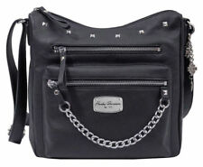 Harley-Davidson® Women's Chain Gang Studded Black Leather Hobo Purse Bag CG2377L