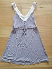 Women's Forever New Size 8 Soft Shift Style Dress Detailed Straps Tie up Waist