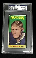 VIC HADFIELD SIGNED TOPPS 1964 TALL BOYS RANGERS CARD #62 PSA/DNA 83732919 Auto
