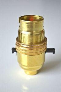 SWITCH BRASS BAYONET FITTING LAMP BULB HOLDER LAMP HOLDER SHADE RING 1/2 INCH R1