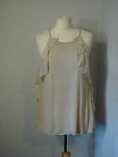 River Island beige/nude evening top with chiffon 12