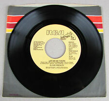 Elvis Presley Let Me Be There MEGA RARE PROMO REMOVED & DELEATED BY RCA * MINT *
