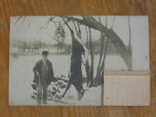 Hunting - Hunter Gun Dead Deer - 1911 Novelty Calendar Attached RPPC Photo