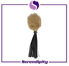 Brown Real Fox Fur Ball Pendant Accessories Bag Key Chain Ring Charm Pom Gift