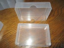 10 St. Kunststoffbox Spielkartenbox Ordnungshilfe Sammeldose transparent neu