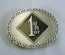 1%er One percenter Outlaw Biker Belt Buckle NEW