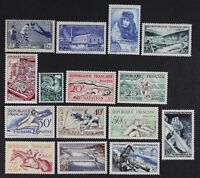 Z616 FRANCE 1938/1957 Nice Mint NH collection between Scott #349 to #884 CV$250