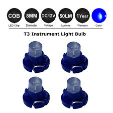 4 X Blue T3 8mm Neo Wedge SMD LED Twist Lock Dash Switch Cluster Light Bulb 12V