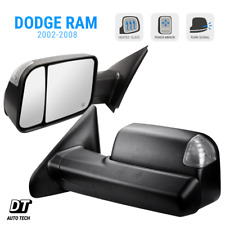 Tow Mirrors 2002-08 Dodge Ram 1500 Power+Heated Glass+LED Signal+Tow Side