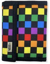 Vans Off The Wall Men's Active Bifold Checkerboard Wallet - Rainbow