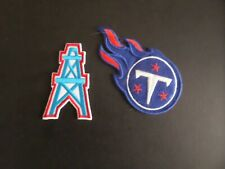 """LOT OF 2-HOUSTON OILERS/TENNEESSEE TITANS NFL"""" Embroidered  Iron On Patches"""