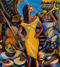 """Essence Poster Commission """"Creole Lady""""  signed by artist Margaret Slade Kelley"""