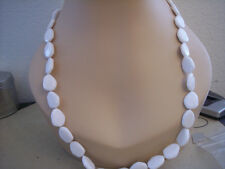 """27"""" White Plastic Necklace H03223-N05 $15"""