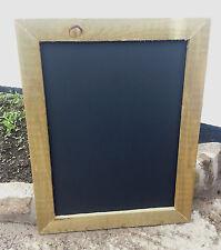 RUSTIC PINE WOODEN FRAME CHALKBOARD - BLACKBOARD - 84 x 64cm