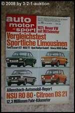AMS Auto Motor Sport 15/70 BMW Alpina 2800 CS Opel Rallye Kadett NSU TT