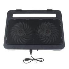 "New 2 Fan Laptop Cooling Cooler Pad Stand for Notebook PC 15""  with 2 USB port"