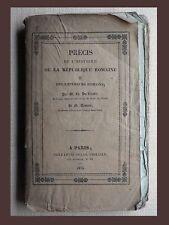 HISTOIRE RÉPUBLIQUE ROMAINE et empereurs romains  DU ROZOIR  DUMONT 1835 ROME