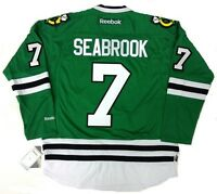 BRENT SEABROOK CHICAGO BLACKHAWKS GREEN ST PATRICK'S DAY REEBOK JERSEY