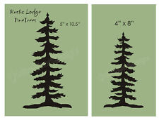 2 pc Stencil Pine Trees Rustic Mountain Lodge Home Decor Cabin Outdoor DIY Sign