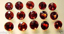 Lot of 15 / 4 mm FINE QUALITY BRILLIANT RED GARNET #R298