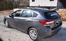 Fits;2018 Subaru Impreza 5 DR,Side Roof Rails,Rack,Black Powder Coateded
