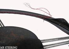 Per ALFA ROMEO GIULIA 105 reale grigio scuro in pelle Volante Copertura rosso cuciture